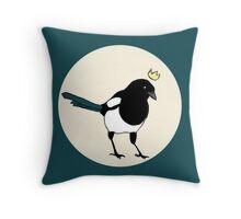 King Magpie Throw Pillow