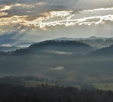 smoky mountain sun rays by dc witmer
