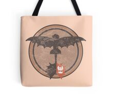 Distressed Night Fury Silhouette  Tote Bag