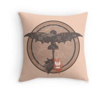 Distressed Night Fury Silhouette  Throw Pillow