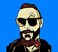 Justin Furstenfeld - Blue Background by Jason westwood