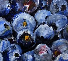 Blueberries Kitchen Decor Fruit Acrylic Contemporary Painting by JamesPeart