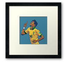 Neymar Jr Framed Print