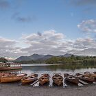 Derwent Water Landing Stage Panoramic by James Grant