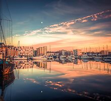 The boats in Ipswich Marina at sunset. ‪ by Art Hakker Photography