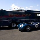 Ecurie Ecosse transporter and Jaguar C Type by Paul Woloschuk