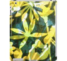 Lemon and Green Flower Pattern iPad Case/Skin