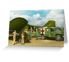 Doctor  - Transferring the wounded Greeting Card
