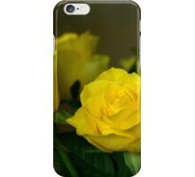 Yellow roses, symbol of friendship and joy iPhone Case/Skin