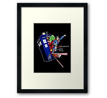 Heroes in the Tardis Framed Print