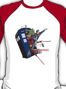 Heroes in the Tardis T-Shirt