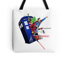 Heroes in the Tardis Tote Bag