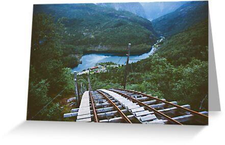 Funicular railway in Norway by Andrey Serdyuk