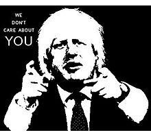 Boris Johnson says what he thinks Photographic Print