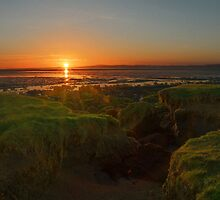 Sunset over Morecambe Bay by PhillConnell