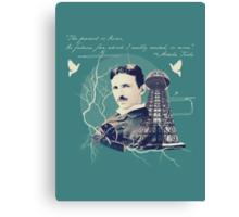 Nikola Tesla - with Quote  Canvas Print