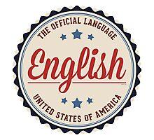 USA Official Language Photographic Print