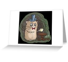 Sir Hamster with tea Greeting Card