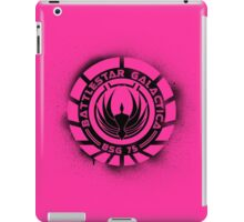 Battlestar Galactica Grunge - Hot Pink Line iPad Case/Skin