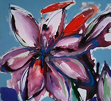 Purple Lily Painting by Jennykeogh