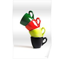 Colored Cups Poster