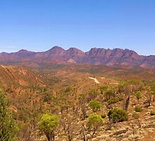 St Mary' Peak and Mt Sawtooth - Wilpena Pound by Paul Gilbert