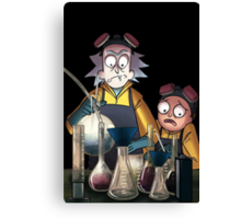 Breaking Bad Rick and Morty Canvas Print