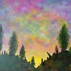 Poplars at Sunset by Diane M. Lowe