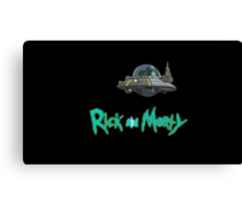Rick and Morty spaceship Canvas Print