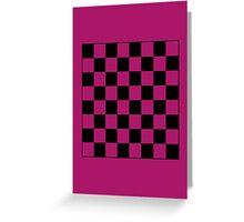 Pink Checkerboard Tote Bag Greeting Card
