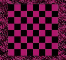 Checker Board On-the-Go! Pink Tote Bag by starcloudsky
