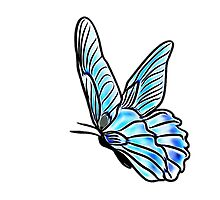 Blue Butterfly of Happiness by Penny Marcus