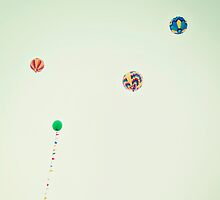 Balloon Meets Hot Air Balloon, Colorful, Whimsical by STUDIOCLAIRE
