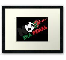 No Era Penal MX 2014 - Flames Framed Print