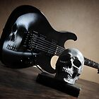 Airbrushed Skull Guitar by Matt Bottos