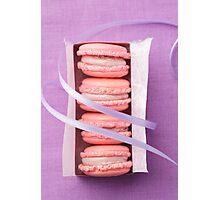 Pink macarons Photographic Print
