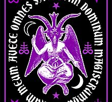 Satanic Baphomet with latin Hail Satan Text by TropicalToad