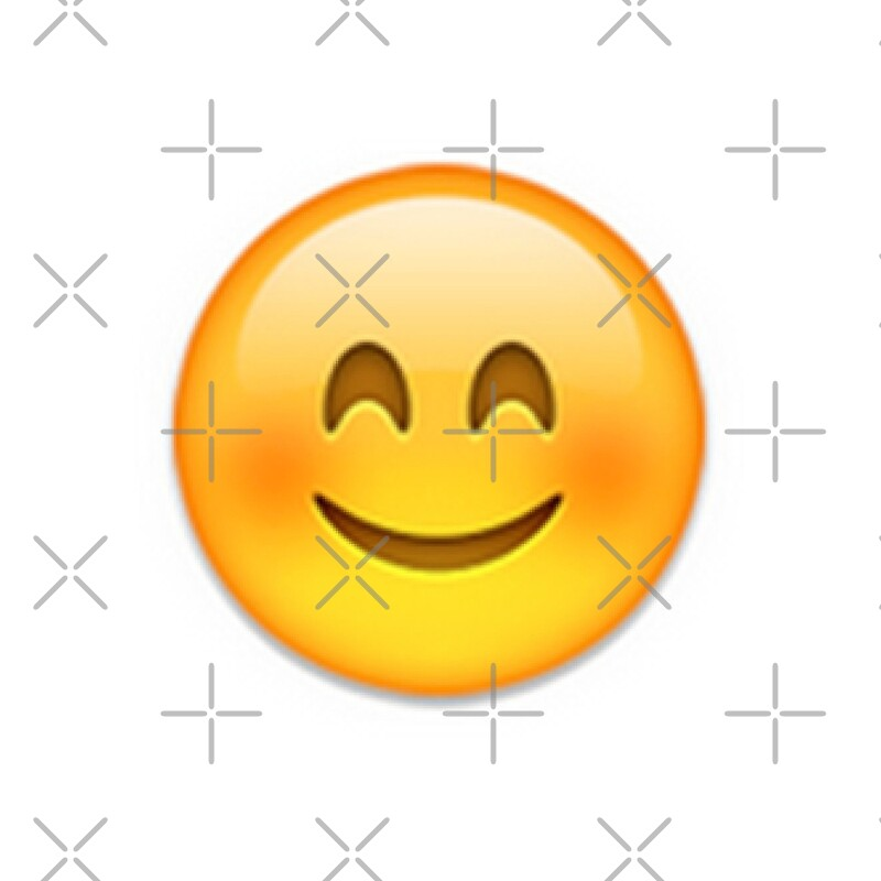 """Blushing Emoji"" Throw Pillows by emilysmithart | Redbubble"
