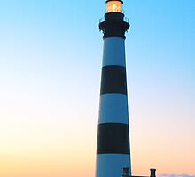 Bodie Island Lighthouse at Dawn by Roupen  Baker