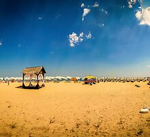 Bulgaria Beach Panorama by StephenRphoto