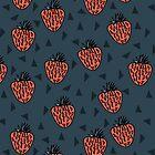 Strawberries - Blue by Andrea Lauren by Andrea Lauren