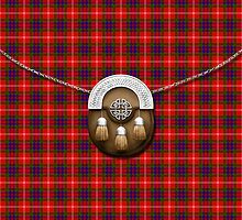 Clan Fraser Tartan And Sporran by thecelticflame