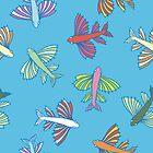 Pattern with fishes by -ashetana-