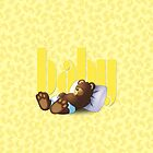 Sleeping Ted - Baby Yellow by ifourdezign