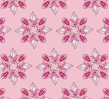 Stylized flowers on the pink background by -ashetana-