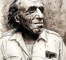 Charles Bukowski portrait by geertvanleeuwen