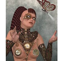 Gear Gal 'n Butterfly IPcase Art by Debra Richie