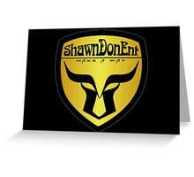 ShawnDonEnt Logo Greeting Card