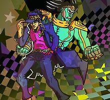 Jotaro Kujo and Star Platinum by Sean McKendry