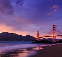 Golden Gate Dusk by Radek Hofman
